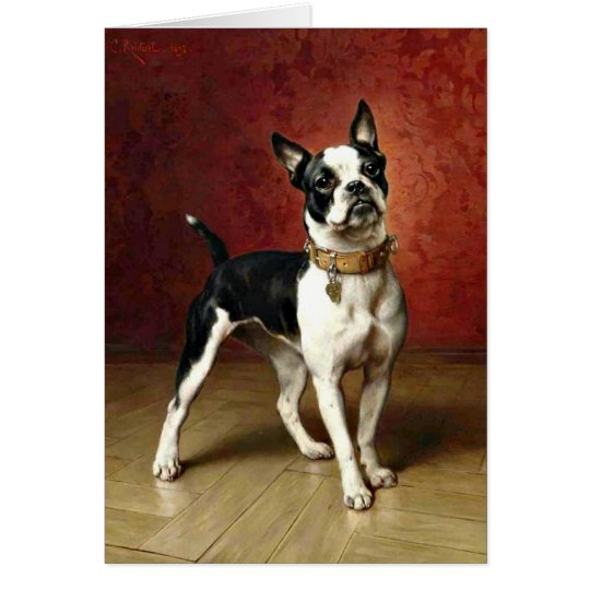 French Bulldog - painting by Carl Reichert Card