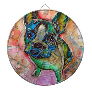 FRENCH BULLDOG PAINTING DARTBOARD