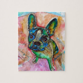 FRENCH BULLDOG PAINTING JIGSAW PUZZLE