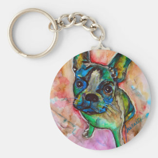FRENCH BULLDOG PAINTING KEYCHAIN