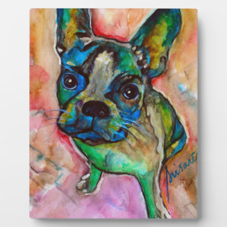 FRENCH BULLDOG PAINTING PLAQUE