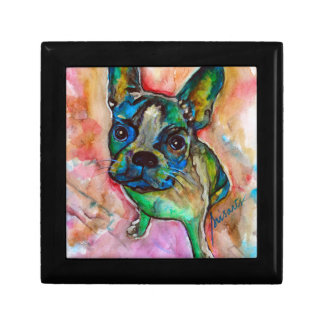 FRENCH BULLDOG PAINTING TRINKET BOX