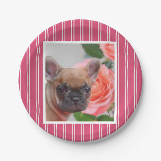 French Bulldog  paper plates 7 Inch Paper Plate