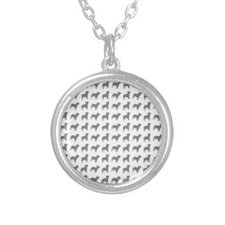 French Bulldog Pattern Silver Plated Necklace