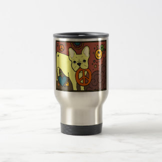 French Bulldog Peace Travel Mug