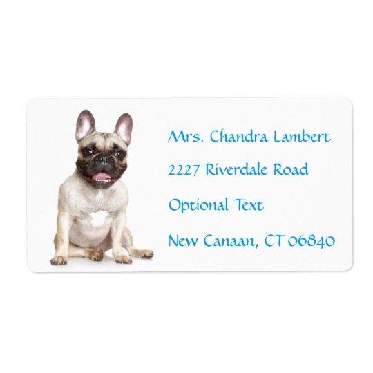 French Bulldog  Personalized Name Address Label