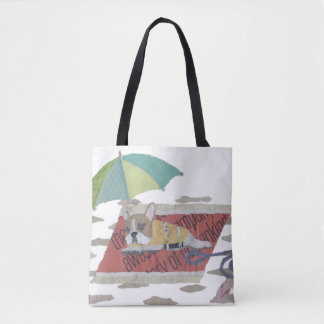 French Bulldog, Pied Frenchie, Colorful, Pop, Cute Tote Bag