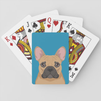 French Bulldog Poker Deck