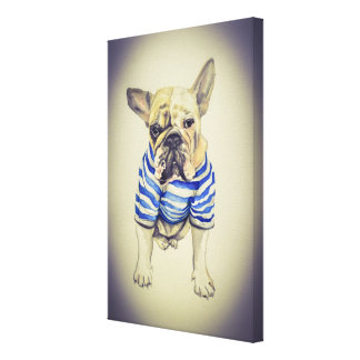 French Bulldog Portrait Canvas Print