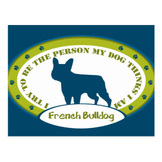 French Bulldog Postcard