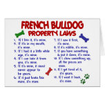 FRENCH BULLDOG Property Laws 2 Greeting Card