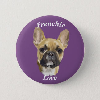 French Bulldog Puppy 2 Inch Round Button