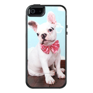 French Bulldog Puppy ( 7 Month Old) With Pink Bow OtterBox iPhone 5/5s/SE Case