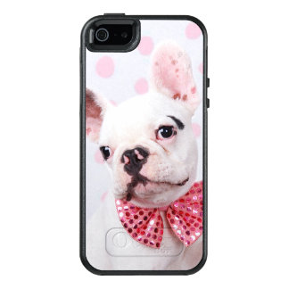 French Bulldog Puppy (7 Month Old, With Pink Bow) OtterBox iPhone 5/5s/SE Case