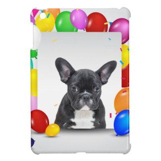 French Bulldog Puppy Colorful Balloons Birthday iPad Mini Cover