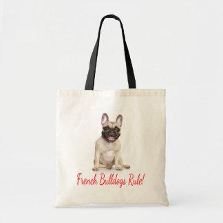 French Bulldog Puppy Dog Canvas Tote Bag