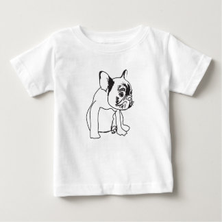 French Bulldog  Puppy Drawing Fine Jersey T-Shirt