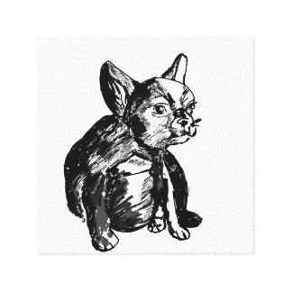 French Bulldog Puppy Drawing Single Print