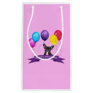 French BullDog Puppy Happy Birthday Gift Bag