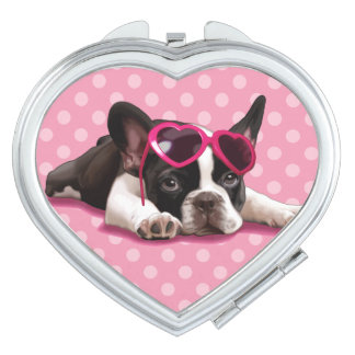 French Bulldog Puppy Mirrors For Makeup