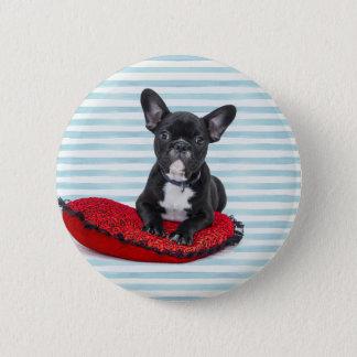 French Bulldog Puppy Portrait 2 Inch Round Button