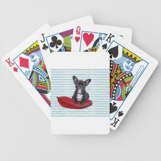 French Bulldog Puppy Portrait Bicycle Playing Cards
