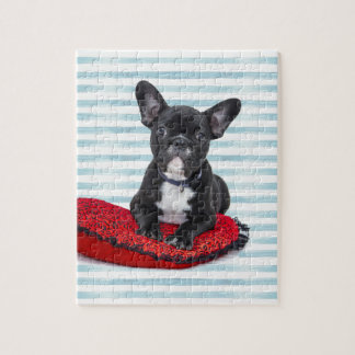 French Bulldog Puppy Portrait Jigsaw Puzzle