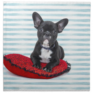 French Bulldog Puppy Portrait Napkin