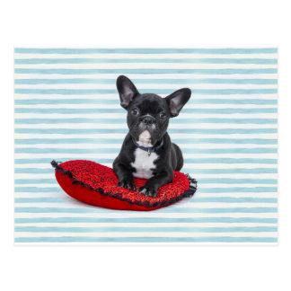 French Bulldog Puppy Portrait Postcard