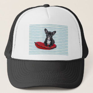 French Bulldog Puppy Portrait Trucker Hat