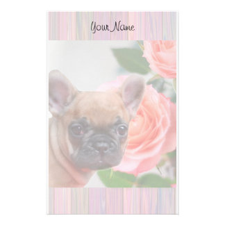 French Bulldog puppy stationary Personalized Stationery