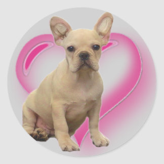 French bulldog puppy stickers