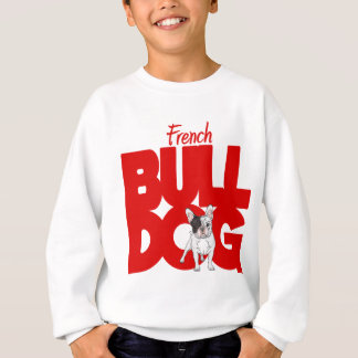 French Bulldog, red Sweatshirt
