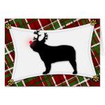 French Bulldog Reindeer Christmas Card