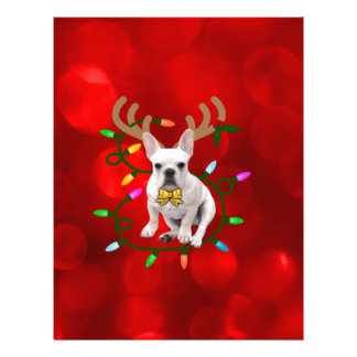 French Bulldog Reindeer Letterhead