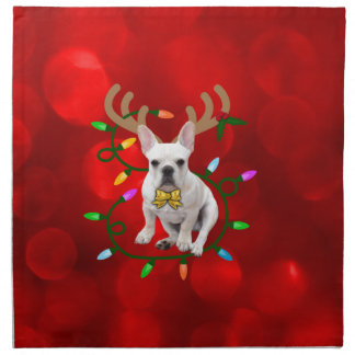 French Bulldog Reindeer Napkin