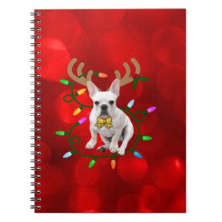 French Bulldog Reindeer Notebook