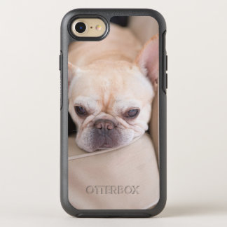 French bulldog resting on sofa OtterBox symmetry iPhone 7 case