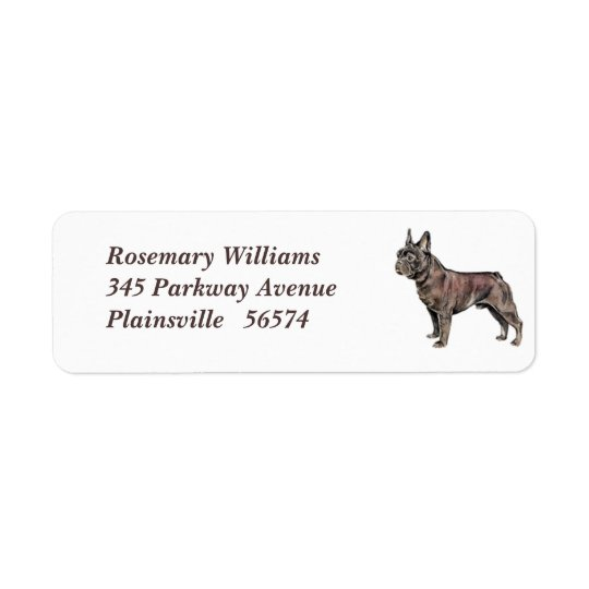 French Bulldog Return Address Label