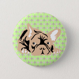 French Bulldog rose 2 Inch Round Button