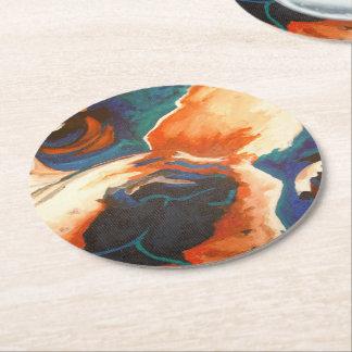 French Bulldog Round Paper Coaster