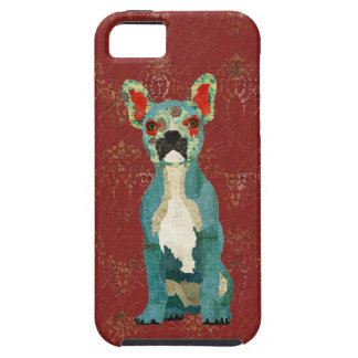 French Bulldog Ruby Ornate iPhone Case