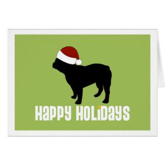 French Bulldog Santa Hat Card