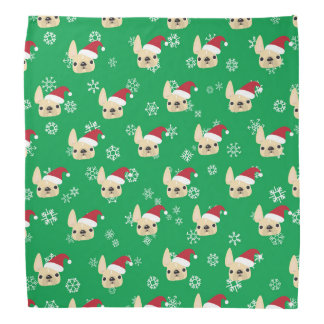 French Bulldog Santa Holiday Bandana