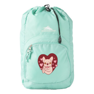 French Bulldog Sharing Love and Passion Backpack