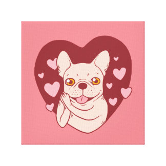 French Bulldog Sharing Love and Passion Canvas Print
