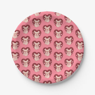 French Bulldog Sharing Love and Passion Paper Plate