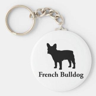 French Bulldog Silhouette Keychain