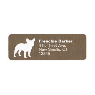 French Bulldog Silhouette Return Address Label