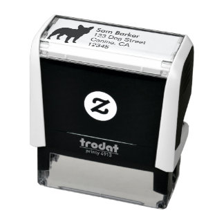 French Bulldog Silhouette Return Address Self-inking Stamp